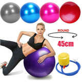 Sport Fitness Yoga Ball PVC Smooth Anti-explosion Exercise Gym Yoga Ball Fitness Pregnancy Birthing Anti Burst Core Ball 45cm#2