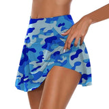 Women Bust Shorts Skirt Yoga Shorts Camouflage Chafe-free Skirt With  Pocket Workout Pleated Skorts Anti-chafing Shorts