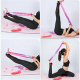 Yoga Mat Strap Belt Adjustable Sports Sling Shoulder Carry Strap Belt Exercise Stretch Fitness Elastic Yoga Belt#y30