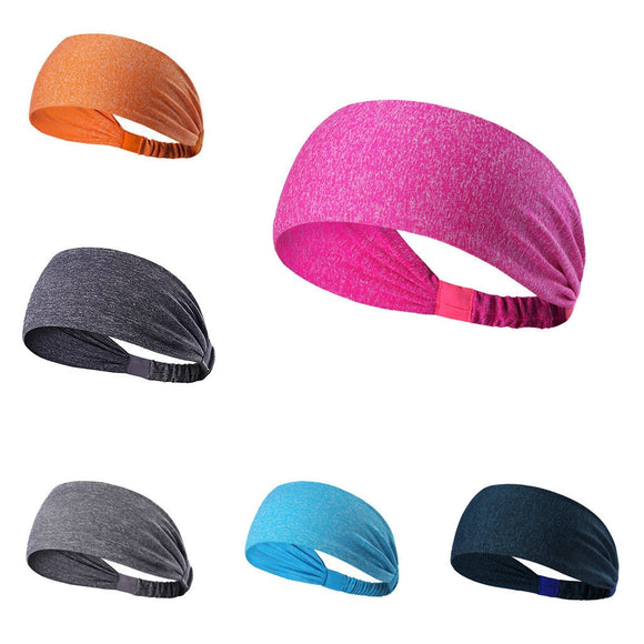 fashion Unisex Solid Color Headband Hair Elastic Bands for Men Women Stretch Outdoor Fitness Head Bands Hairband 2020 New#45
