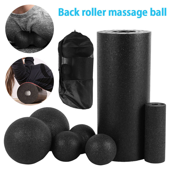 3/5pc Yoga Massage Roller &Fitness Ball Foam Roller Set for Back Pain Self-Myofascial Treatment Pilates Muscle Release Exercises