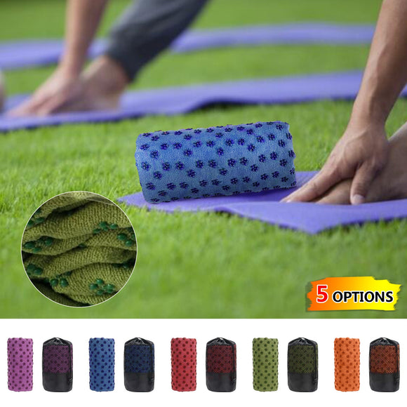 Yoga Mat Anti-skid Sports Mat Thick Yoga Blanket And Yoga Towel Point Anti-slip Fitness Exercise Yoga And Pilates Gymnastics Mat
