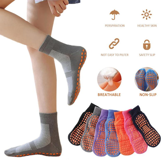 Fashion Short Silicone Dots Anti Slip Cotton Trampoline Socks Soccer Football Sports Socks Non-slip Floor Socks