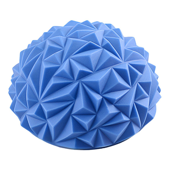 Diamond Pattern Foot Massage Ball Durian Balance Yoga Half Ball Foot Massager Gym Fitness Balls Ballon Sport Sensory Training