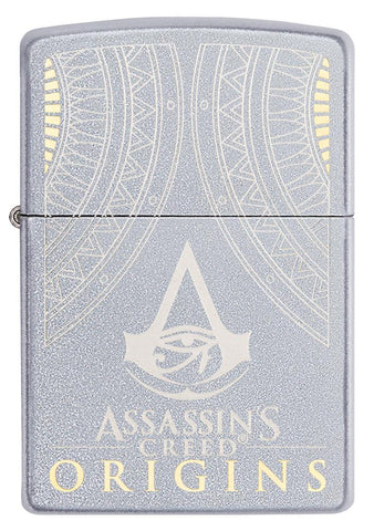 Vooraanzicht Zippo-aansteker Assassin's Creed Origins-logo