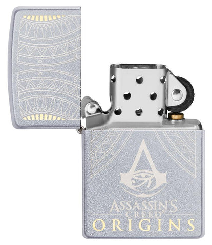 Zippo-aansteker Assassin's Creed Origins-logo open