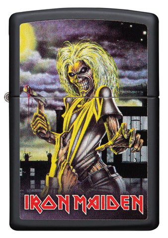 Vooraanzicht Zippo-aansteker zwart Iron Maiden Album Cover Killer