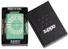 Zippo-aansteker High Polish Green met roulettetafel in open doos