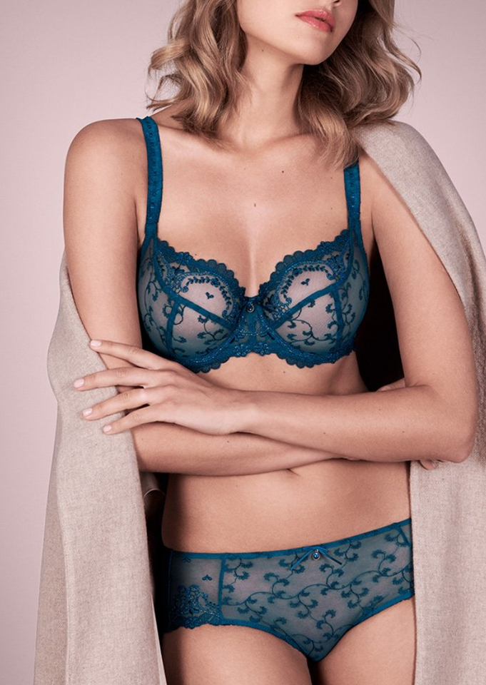 Empreinte matching bra and panty set