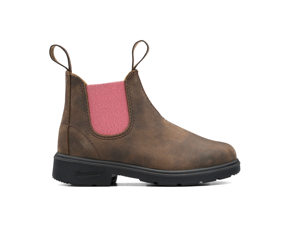 Blundstone Boot Kinder- rustic brown /pale pink