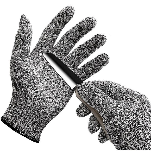 anti cut protector light metallic gloves