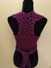 "Load image into Gallery viewer, Gioia Top , Crocheted Top, Bust 30-32"", Size Small"