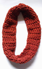 Load image into Gallery viewer, Crocheted Scarf, Handmade Thick Scarf, Infinity scarf