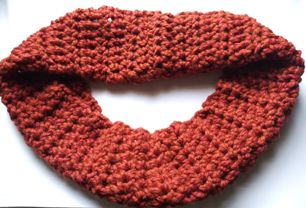 Crocheted Scarf, Handmade Thick Scarf, Infinity scarf