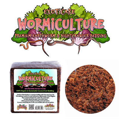 Wormiculture Coconut Husk Coir Substrate for Earthworms, Nightcrawlers, etc.