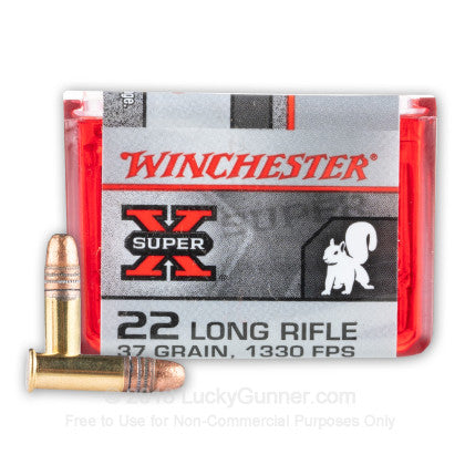 .22 Winchester Super-X Ammunition Long Rifle 37gr Copper Plated Lead Hollow Point