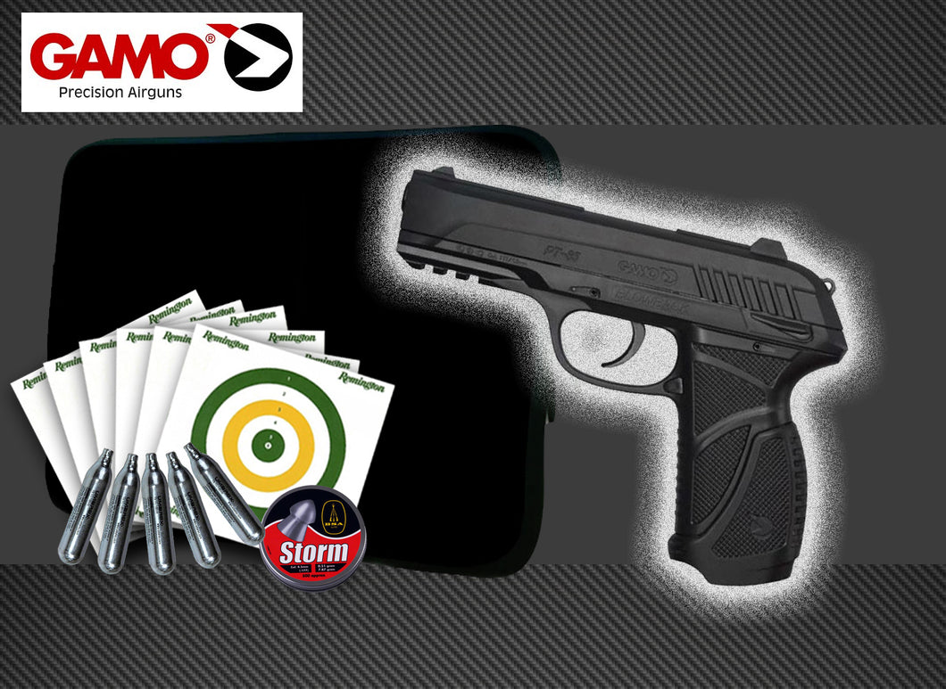 Gamo PT-85 Blowback .177 CO2 Package Deal
