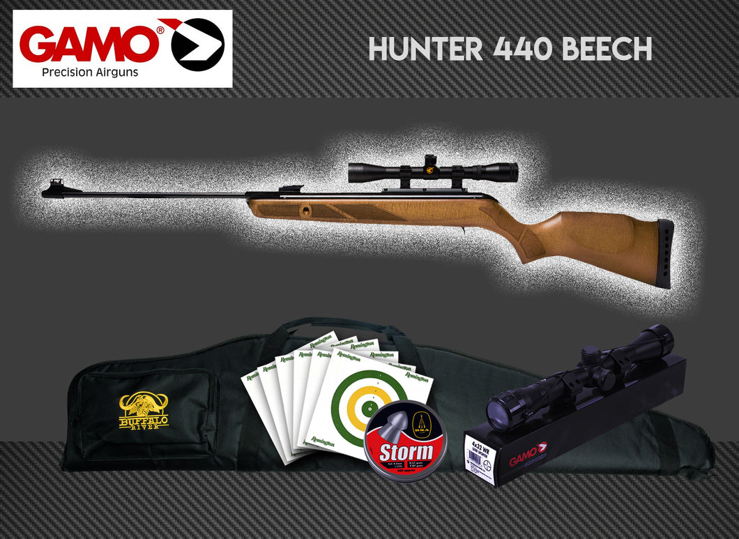 Gamo Hunter 440 Beech Package Deal