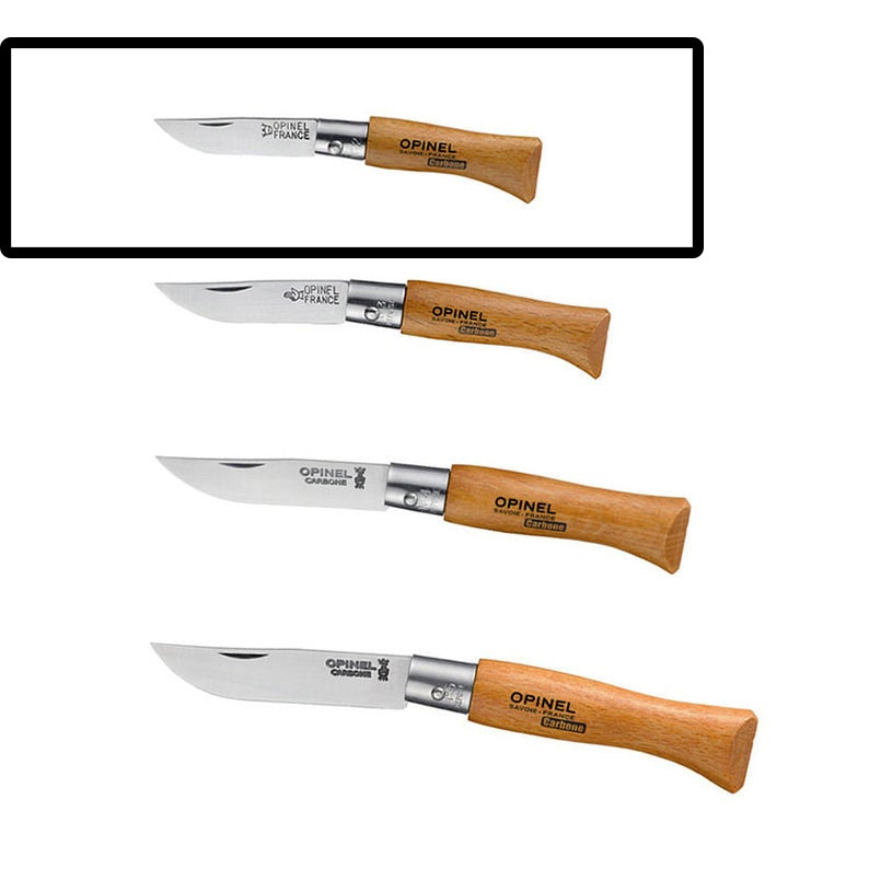 No2 Opinel Carbone Folding Knife (Non-Locking)