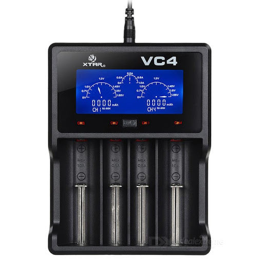 XTAR VC4 Quad Cell Charger - 18650 etc