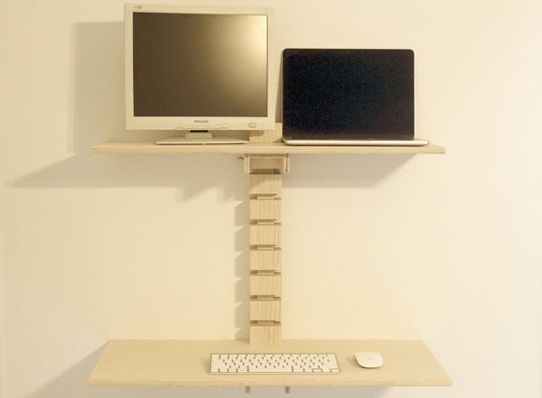 Dual Monitor Wall Mounted Standing Desk Gereghty Desk Co