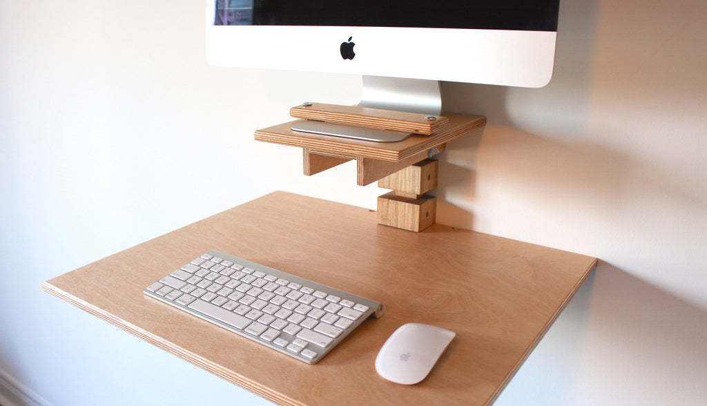 Wall-Mounted Standing Desk - iMac Model