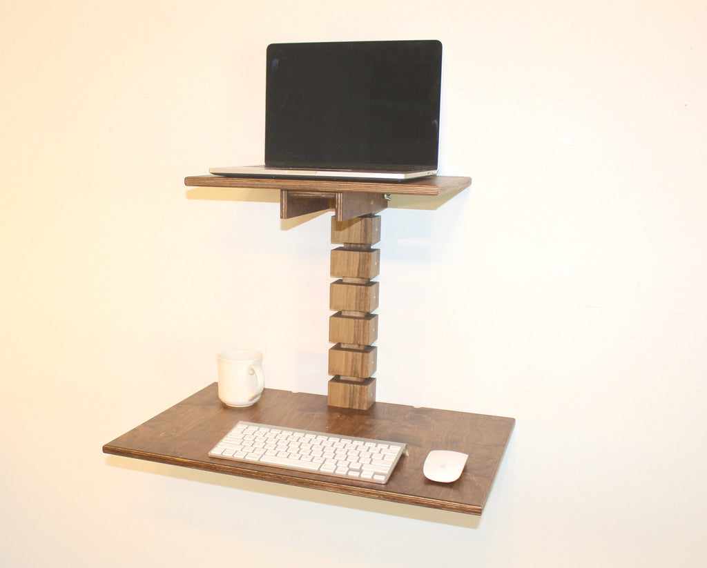 Wall-Mounted Standing Desk (Dark)