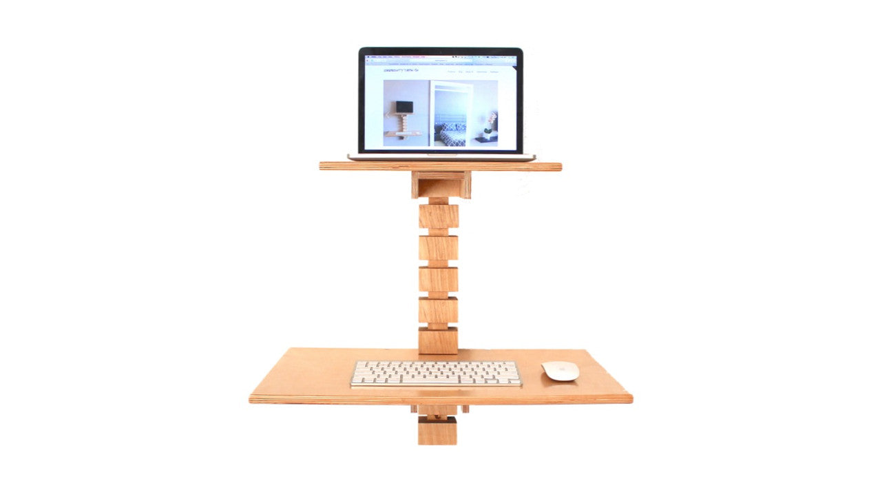 Wall-Mounted Standing Desk - Gereghty Desk Co. - Toronto