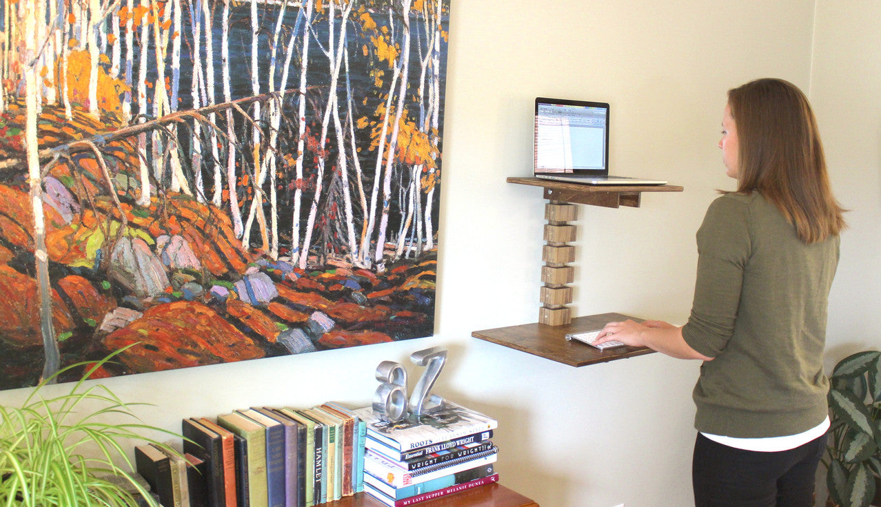Wall-Mounted Standing Desk - Bedroom