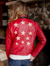 Load image into Gallery viewer, Christy Red Leather Jacket