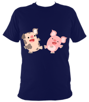 Two Madly Dancing Pigs