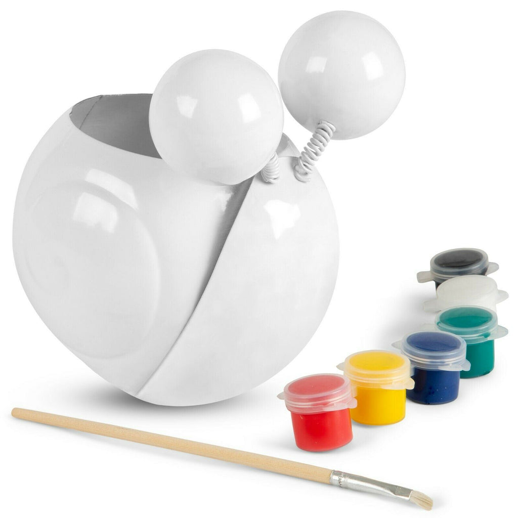 Desk Pen Holder Painting Kit – Gary The Snail- Paint Your Own Desk Organizer Pencil Holder Cup – Kids Crafts, Makeup Brush Holders, Gifts by CR8 Outlet, 3.5x5.1x5.1 in.