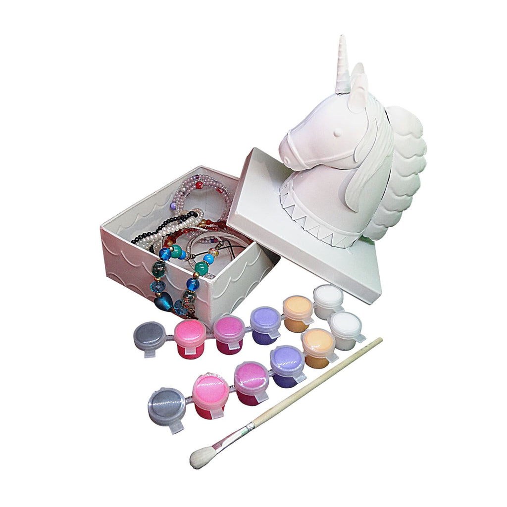 Unicorn Jewelry box for girls Painting Kit – Paint Your Own Unicorn Decor Trinket