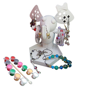 Jewelry Organizer Stand Paint Your Own Ellie the Elephant Ring holder, jewelry stand, Bracelet holder, necklace holder
