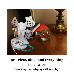 Place for Every Piece – Display any jewelry you desire on your jewelry tree organizer stand! Hang bracelets from its trunk or front legs, and earrings from its ears. Place necklaces and rings in its tray