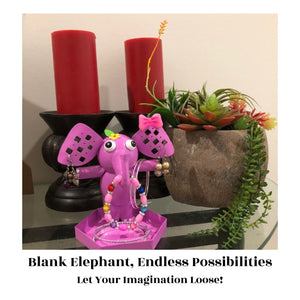 Cute, Capable, Crafty – Organize and personalize with CR8 Outlet's Ellie the Elephant Jewelry Organizer stand holder painting kit! Your set lets you decorate a fun AND functional earring holder stand for everything that sparkles!