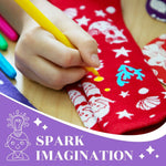 Load image into Gallery viewer, Color your own Unicorn Mermaid doodle socks are great craft kits for kids ages 3-4-5-6 years olds. Quality gift set activity for birthday, kids craft projects as Christmas stocking stuffers