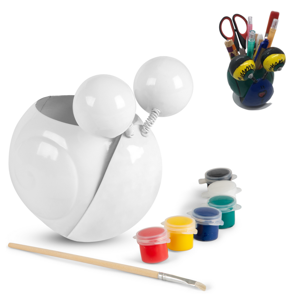 Desk Pen Holder Painting Kit – Gary The Snail- Paint Your Own Desk Organizer Pencil Holder Cup