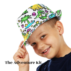 {FUN FOR ALL} Our DIY doodle color in socks and fedora hat , kid activities craft comes with a dinosaur design gift for kids or as a childs keepsake .To inspire a variety of color designs, this color in socks kit for kids has been carefully crafted to provide long-lasting enjoyment in your life Color your own craft for boys kit project makes the perfect gift for toddlers during the holidays or on their birthdays, and make a great family activity for younger kids, art projects for kids