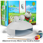 Load image into Gallery viewer, Frog Napkin Holder Painting Kit – Paint Your Own Indoor / Outdoor Frog art kit