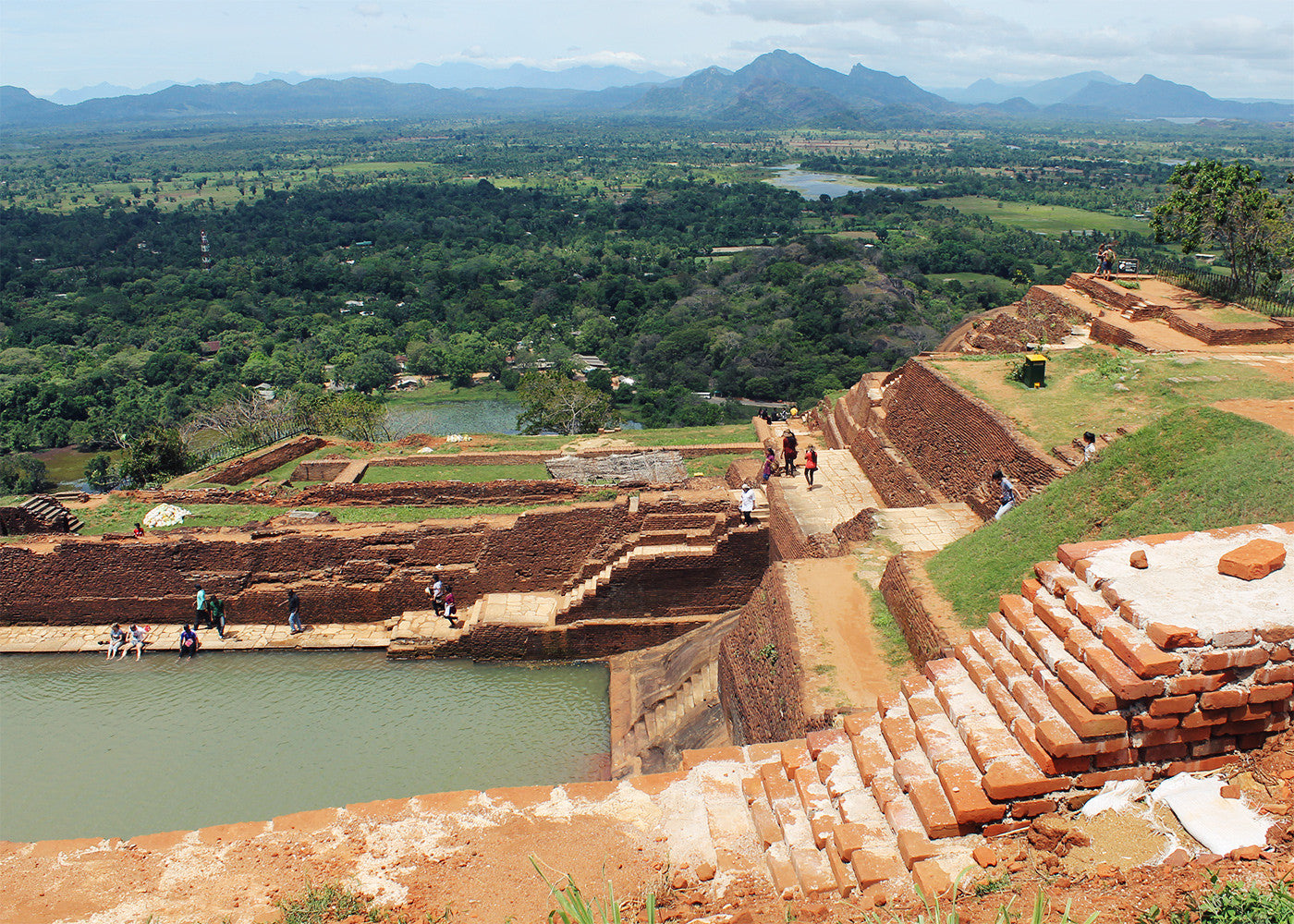 View of tropical landscape, Sigiriya