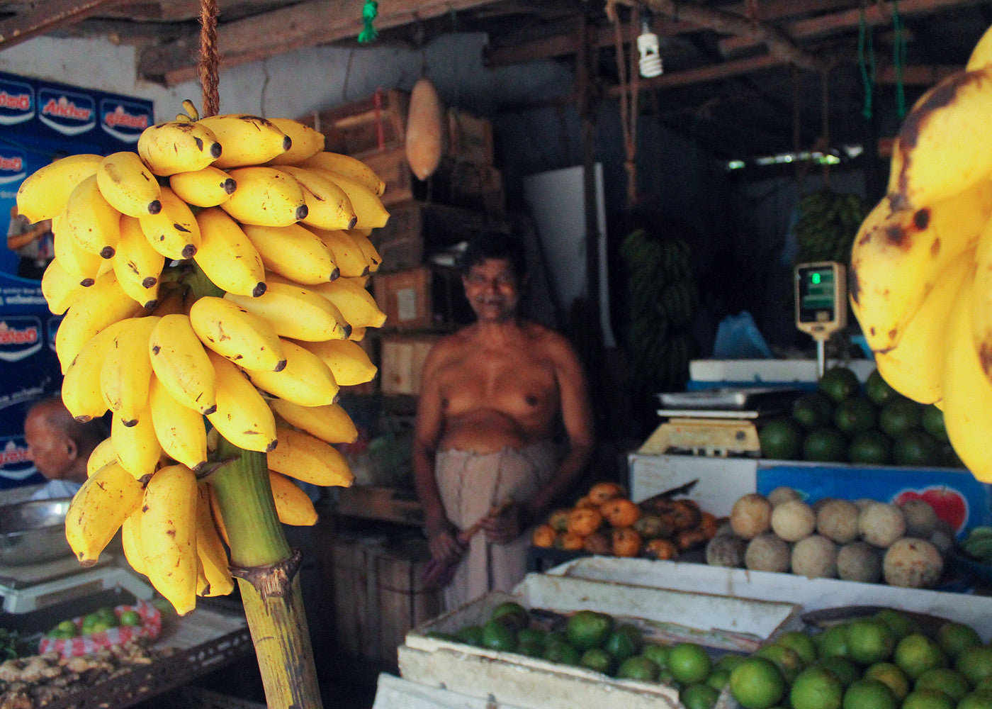 Native to Sri Lanka, Seeni Kesel bananas are short and sweet