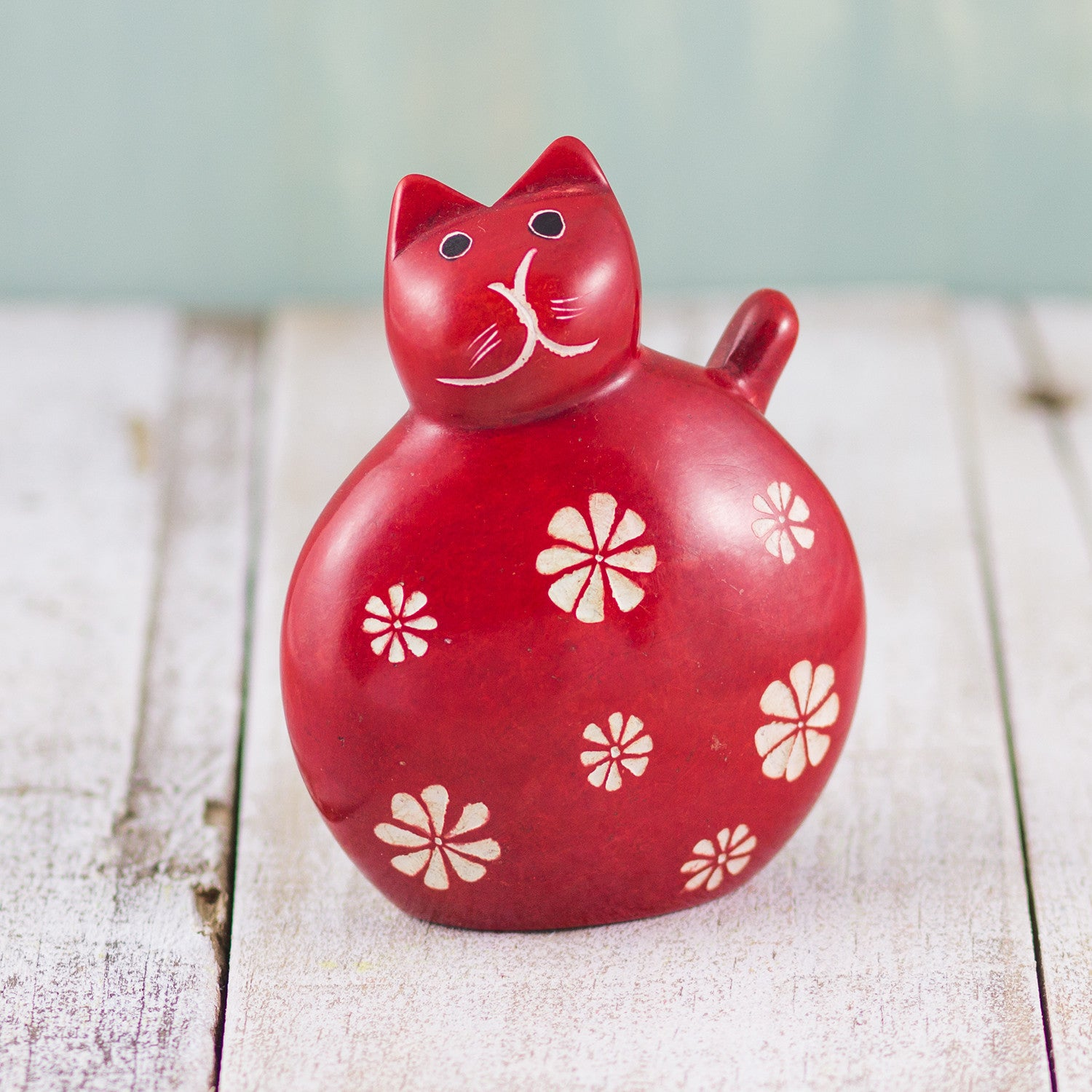 Soapstone Fat Cat Red