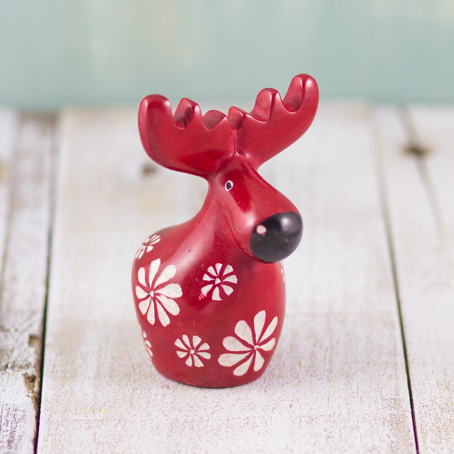 Soapstone Moose Red