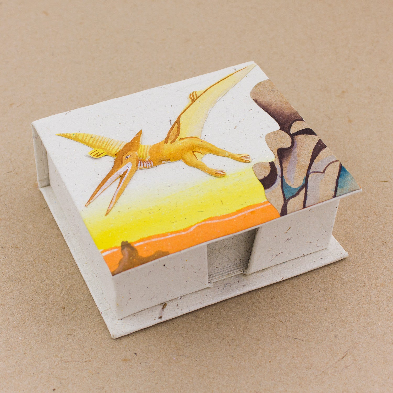 Note Box Pterodactyl Natural White