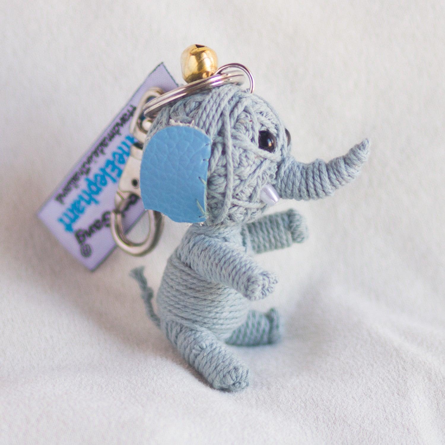 String Doll Keychain Ellie the Elephant