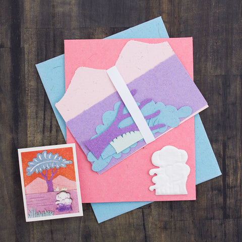 DIY Single Greeting Card Kit Elephant