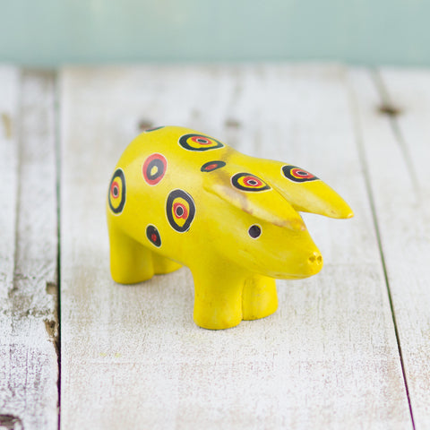 Soapstone Pig Yellow