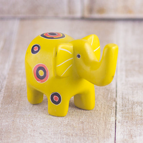 Soapstone Elephant Yellow