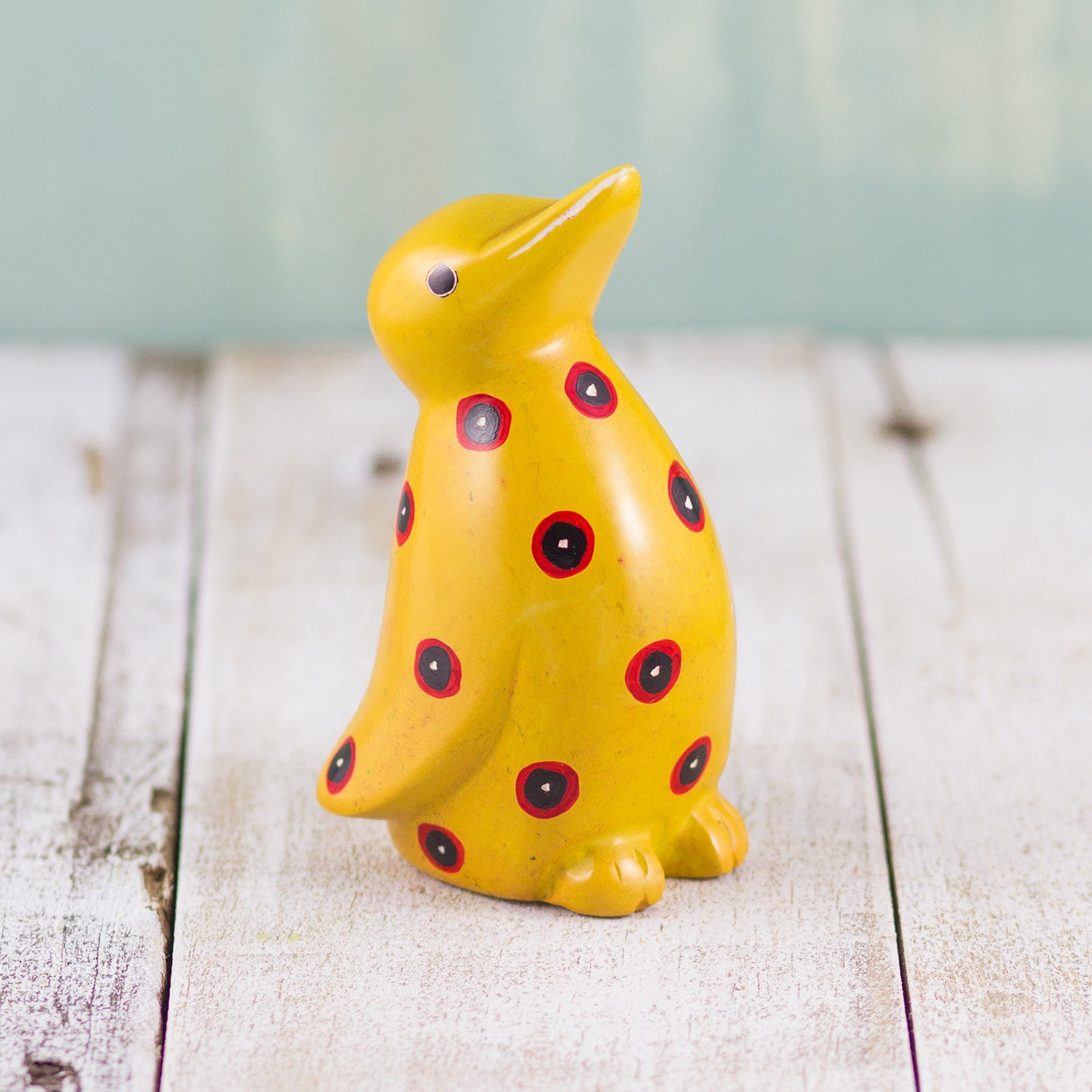 Soapstone Penguin Yellow
